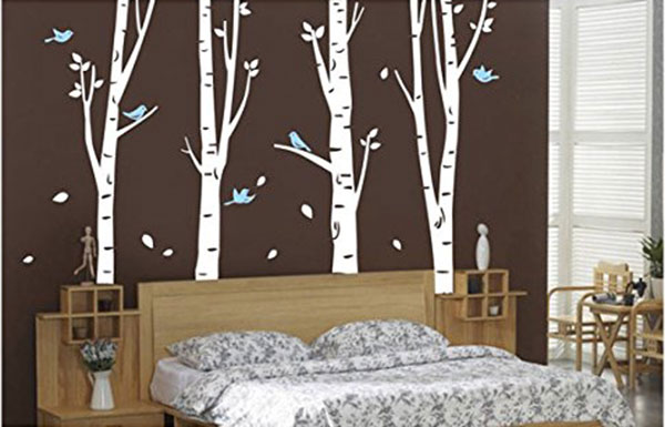 Tree-Wall-Decal-Set-of-4-Birch-Tree-Wall-Decal-Nursery-Forest-with-Birds-Removable-Vinyl-Tree-Wall-Sticker-for-Living-Room