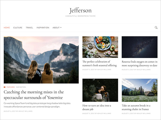 Jefferson-top-notch-WordPress-magazine-theme-2017-for-design-based-websites