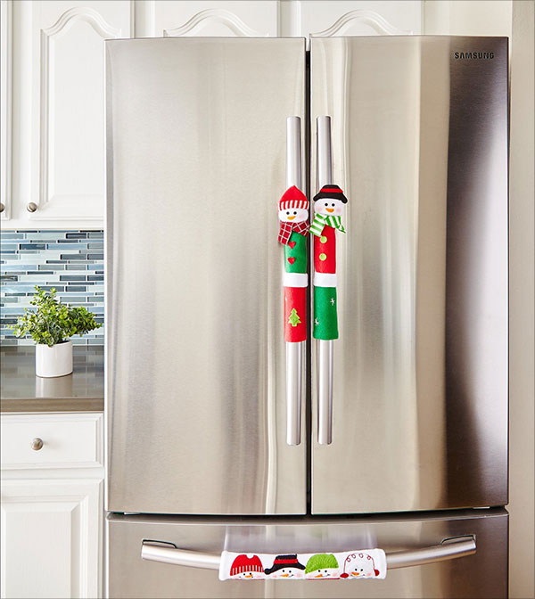 Snowman-Kitchen-Appliance-Handle-Covers