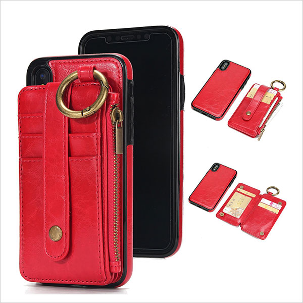 Wisecoco-iphone-X-Wallet-Case-with-Card-Holder,Magnetic-Detachable-Slim-Shockproof