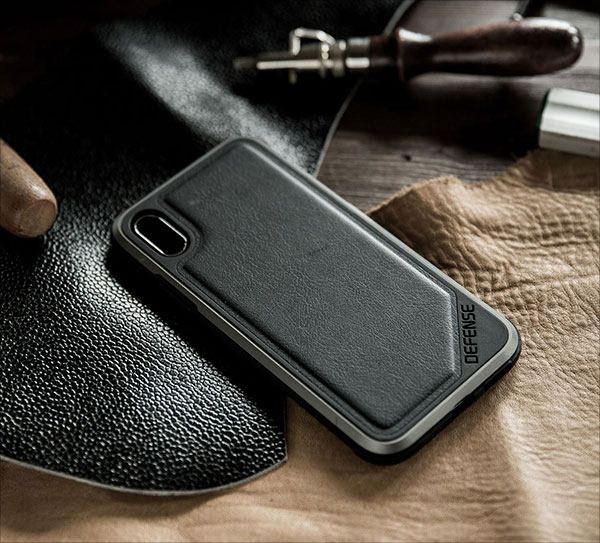 iPhone-X-Case,-X-Doria-Defense-Lux-Series---Military-Grade-Drop-Tested