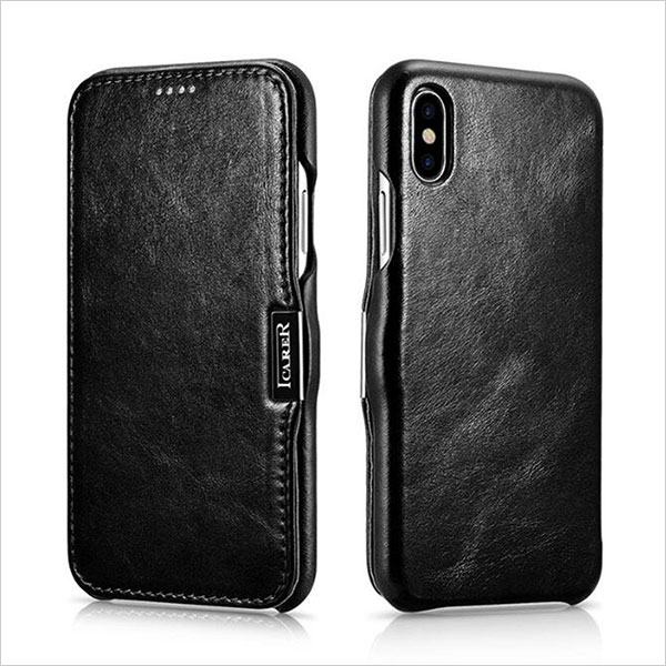 iPhone-X-Leather-Case,RUIHUI-Genuine-Vintage-Leather-Side-Open-Case-in-Slim-Thin-Design