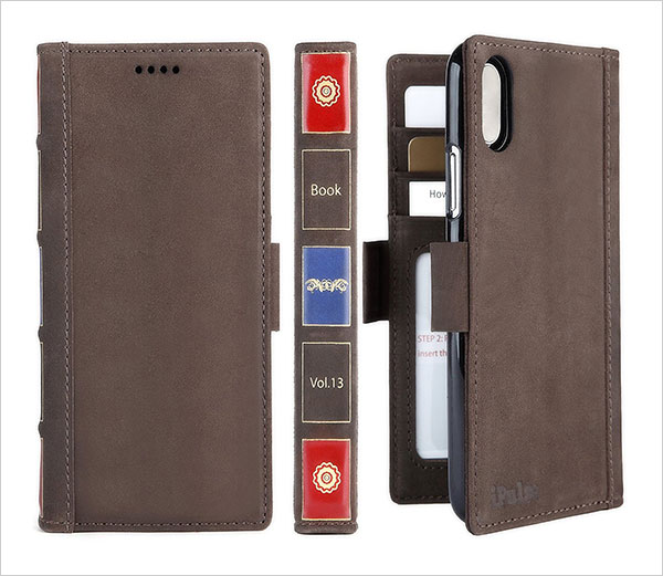 iPhone-X-Wallet-Case-Leather---iPulse-Vintage-Book-Series-Italian