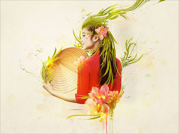 Abstract-Vietnamese-Woman-Portrait-in-Adobe-Photoshop