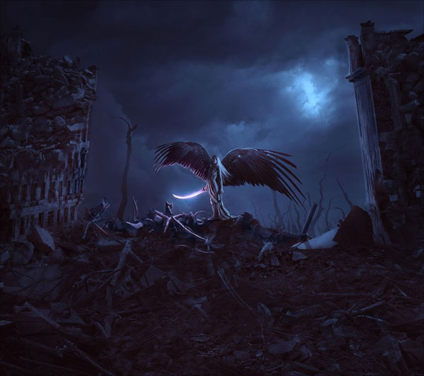 Apocalypse-Angel-Photo-Manipulation-Scene-With-Adobe-Photoshop
