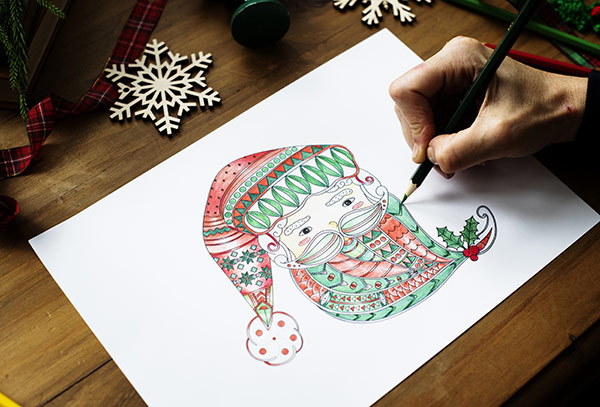 Coloring-on-Paper-Stock-Photo
