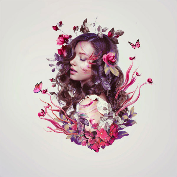 Floral-Portrait-Photo-Manipulation-in-Adobe-Photoshop