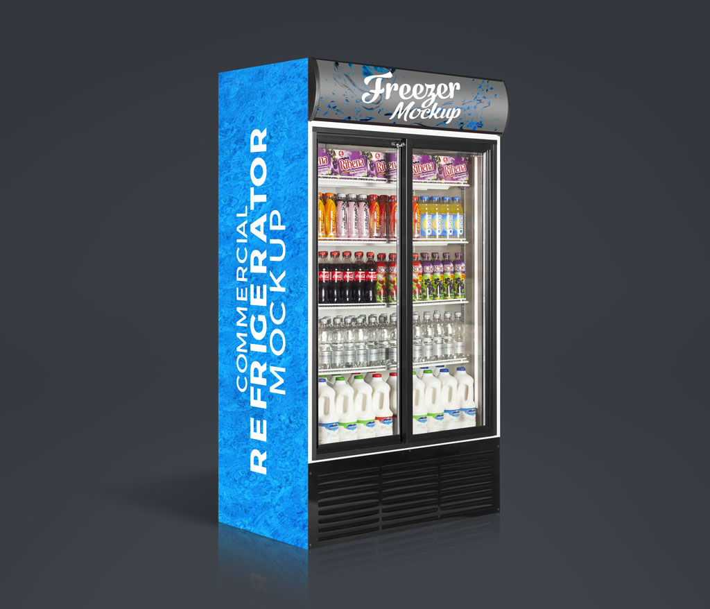 Free-Commercial-Refrigerator,-Cooler-Freezer-Mockup-PSD-with-Product-Insertion