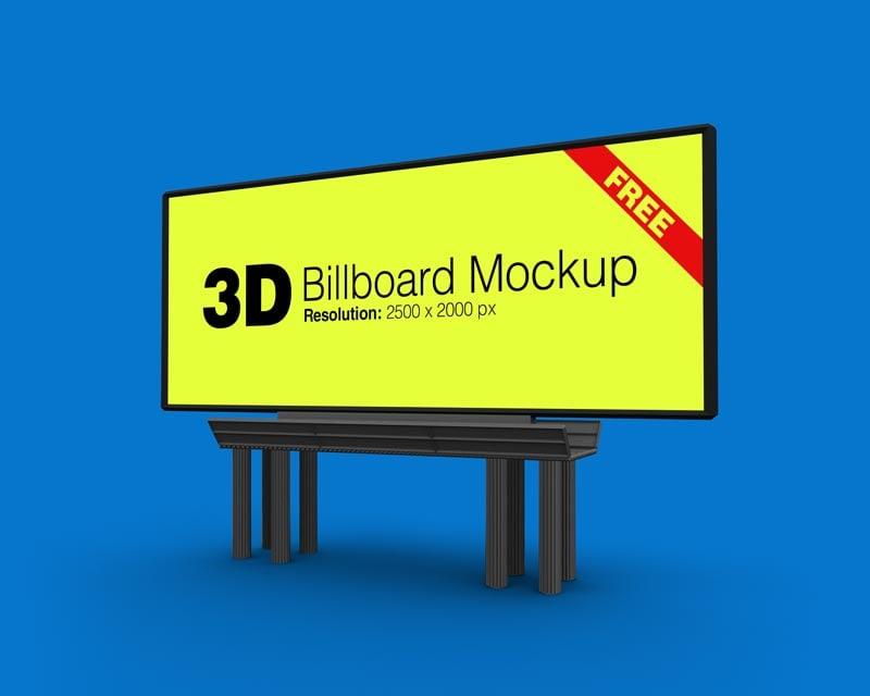 Free-Outdoor-Advertising-3D-Billboard-Mockup-PSD