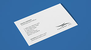 Free Simple Yet Elegant White Business Card Mockup With Textured Background