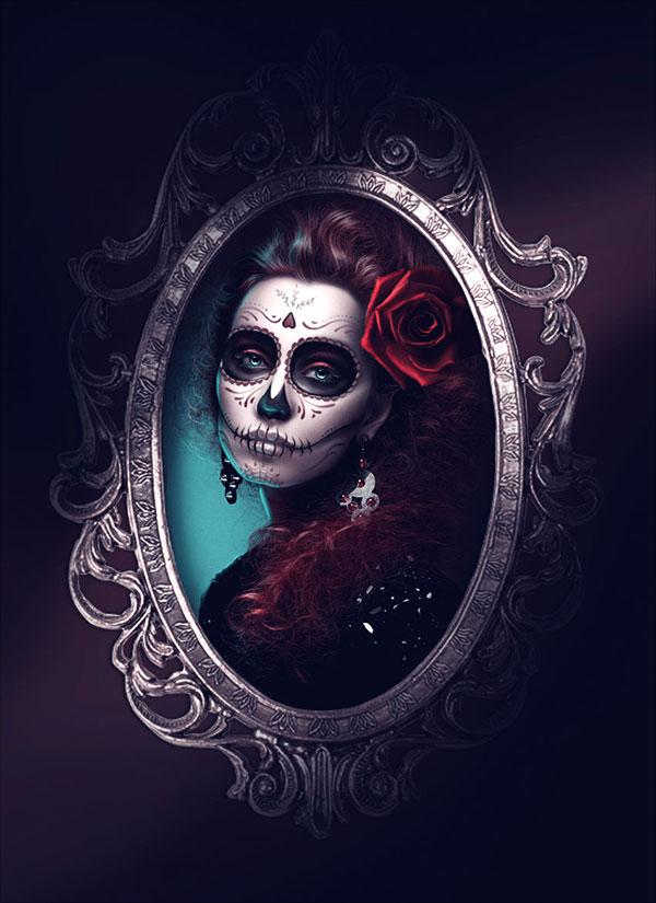 Glamorous-Calavera-Portrait-in-Adobe-Photoshop