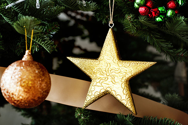 Gold-Baubles-Stock-Photo