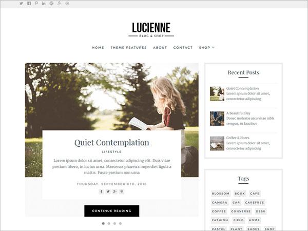 Lucienne-stylish,-elegant-and-minimal-WordPress-theme-designed-for-blogs