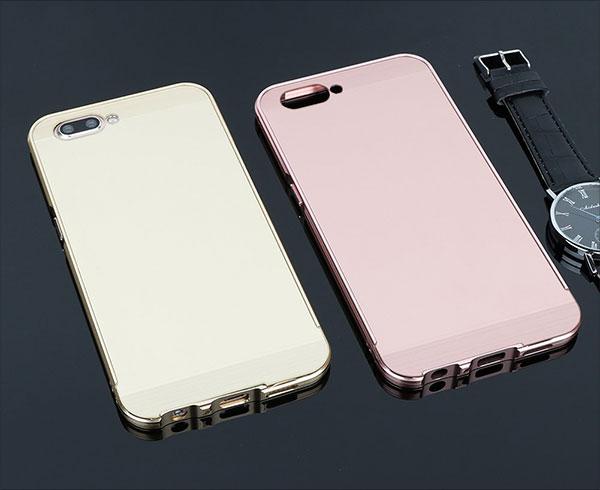 OPPO-R11-Case,DAYJOY-Aluminum-Metal-Shockproof-Bumper-Frame-Case