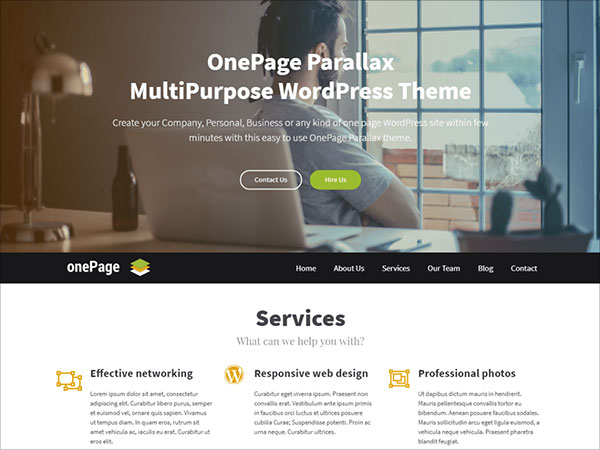 OnePage-Parallax-single-page-wordpress-theme-2017