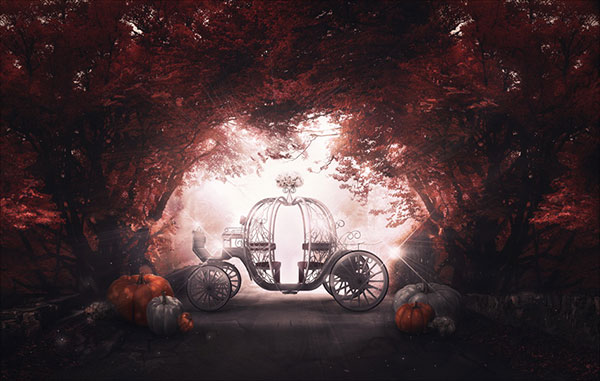 Pumpkin-Coach-Photo-Manipulation-in-Adobe-Photoshop