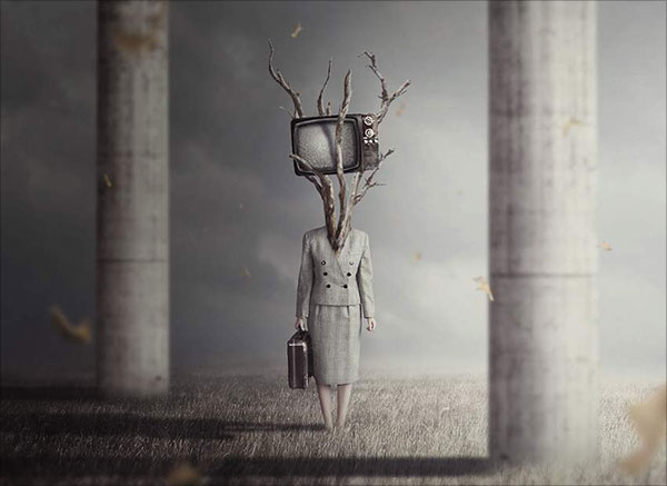 Surreal-TV-Head-Photo-Manipulation-With-Adobe-Photoshop