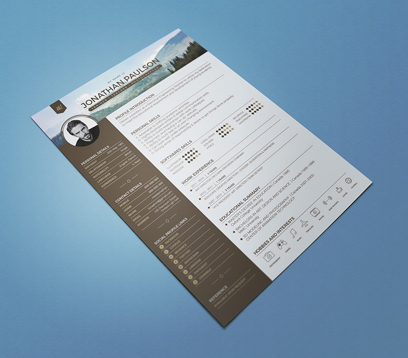 10 fresh free resume cv design templates 2018 in word psd ai free professional modern resume cv template maxwellsz