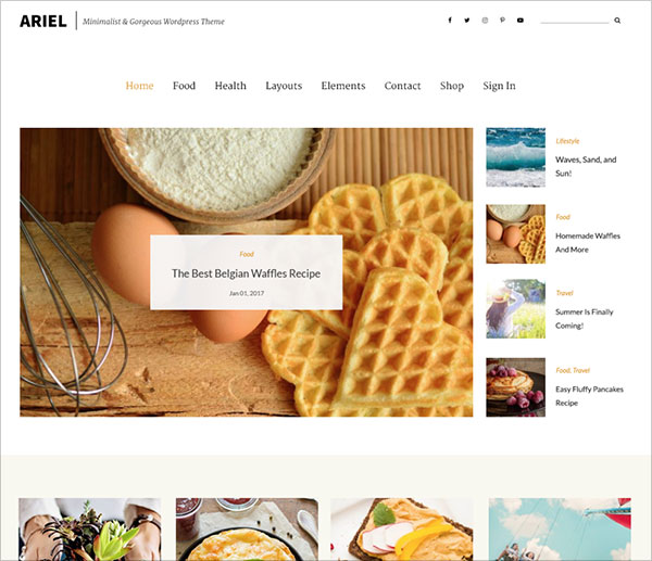 Ariel-simple-but-feature-filled-blogging-WordPress-theme-2018