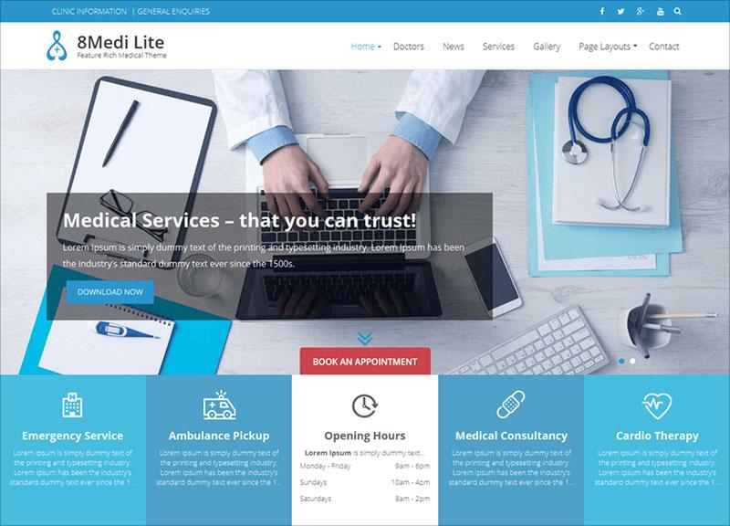 EightMedi-Lite-free-responsive-medical-WordPress-theme