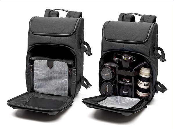 Evecase-Shell-DSLR-Camera-Backpack-with-15.6-inch-Laptop-Water-Resistant-Made-for-Travelling--2
