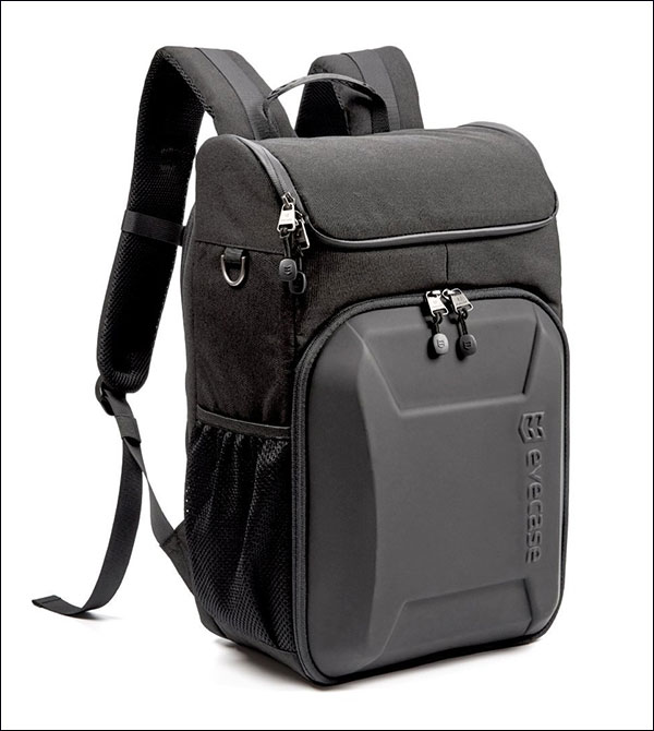 Evecase-Shell-DSLR-Camera-Backpack-with-15.6-inch-Laptop-Water-Resistant-Made-for-Travelling