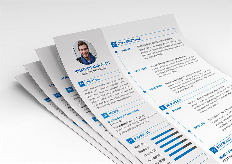 FREE Resume Cover Letter Template In PSD