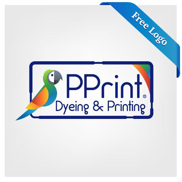 Free Dyeing & Printing Logo Design template