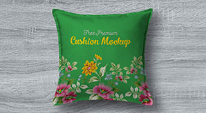 Free Premium Pillow / Cushion Cover Mockup PSD