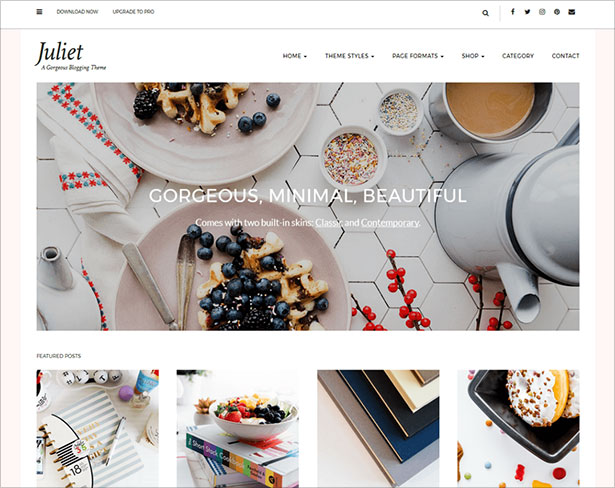 Juliet-simple-elegant-lifestyle-blogging-WordPress-theme-2018
