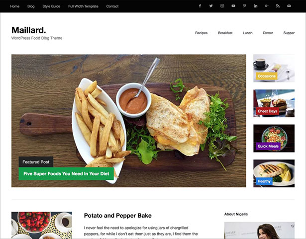 Maillard-lightweight-Food-Blog-Theme-2018