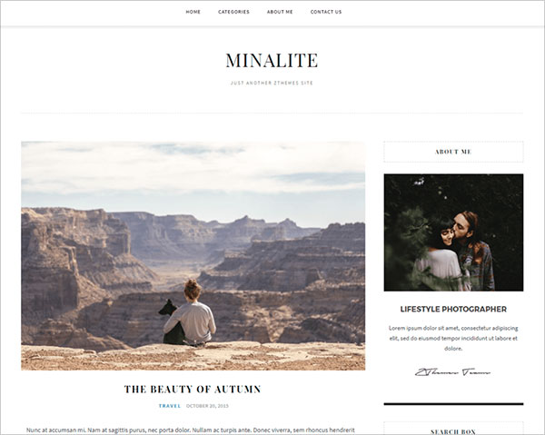 MinaLite-Responsive-WordPress-blog-theme-2018