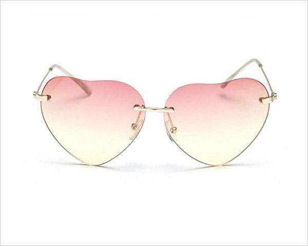 My-Monkey-2017-Light-Fashion-Heart-shaped-Wayfarer-Frameless-Sunglasses-for-Women