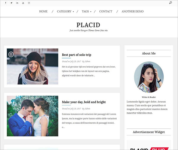 Placid-highly-crafted-WordPress-theme-for-Blog-and-Magazine
