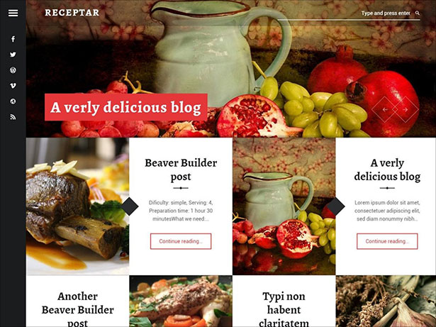 Receptar-simple,-modern,-responsive,-customizable,-stylish-blog-WordPress-theme-2018