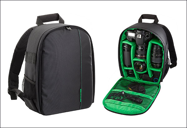 Rivacase-7460-DSLR-Photo-Backpack-Classic,-Adjustable,-Protective,-Black-&-Green-Color
