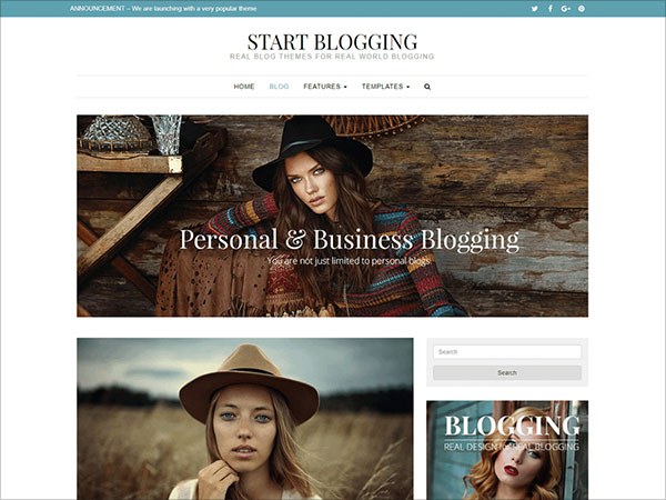 Start-Blogging-exceptional-style-personal-and-business-blogging-website-theme