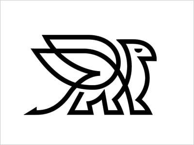 continuous line logo design 2018 (2)