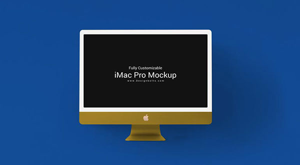 Free Fully Customizable iMac Pro Mockup PSD