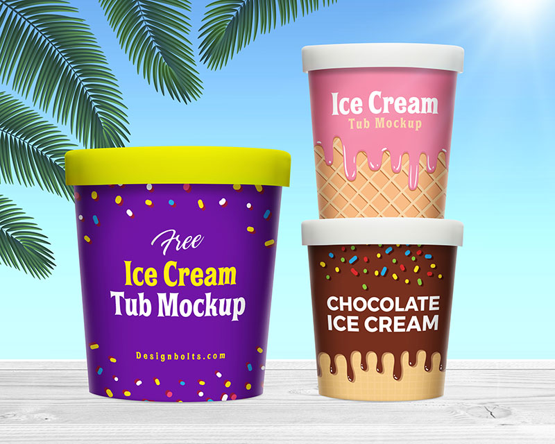 Free-Ice-Cream-Bucket-Tub-Mockup-PSD