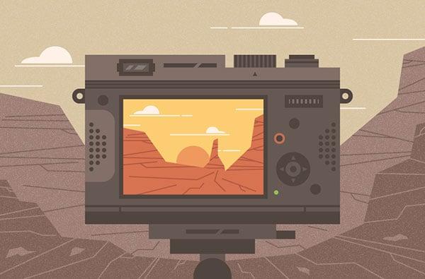 Canyon-Illustration-in-Adobe-Illustrator-Illustrator