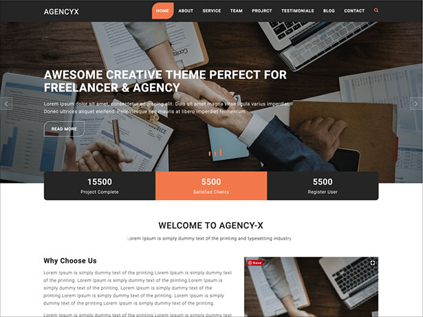 Agency-X-is-responsive-WordPress-theme-2018