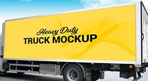 Free Heavy Duty Truck Branding Mockup PSD