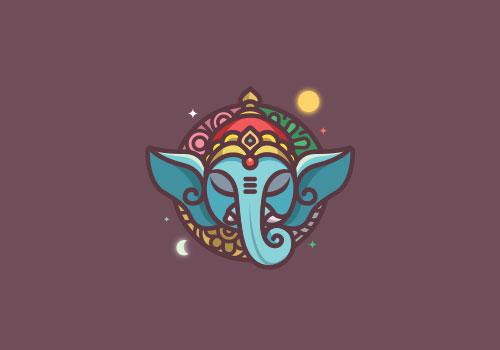 Ganesha-Round-Logo-Design