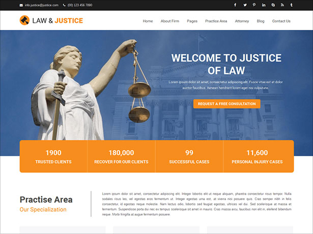 10 Best Free Responsive Lawyer WordPress Themes for 2018