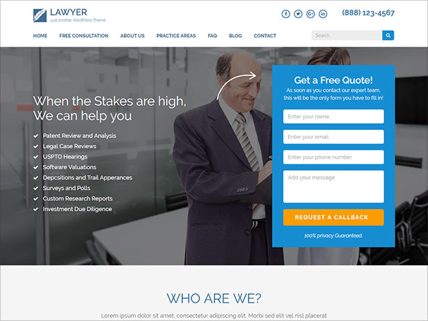 Lawyer-Landing-page-professional-WordPress-theme-for-Lawyers