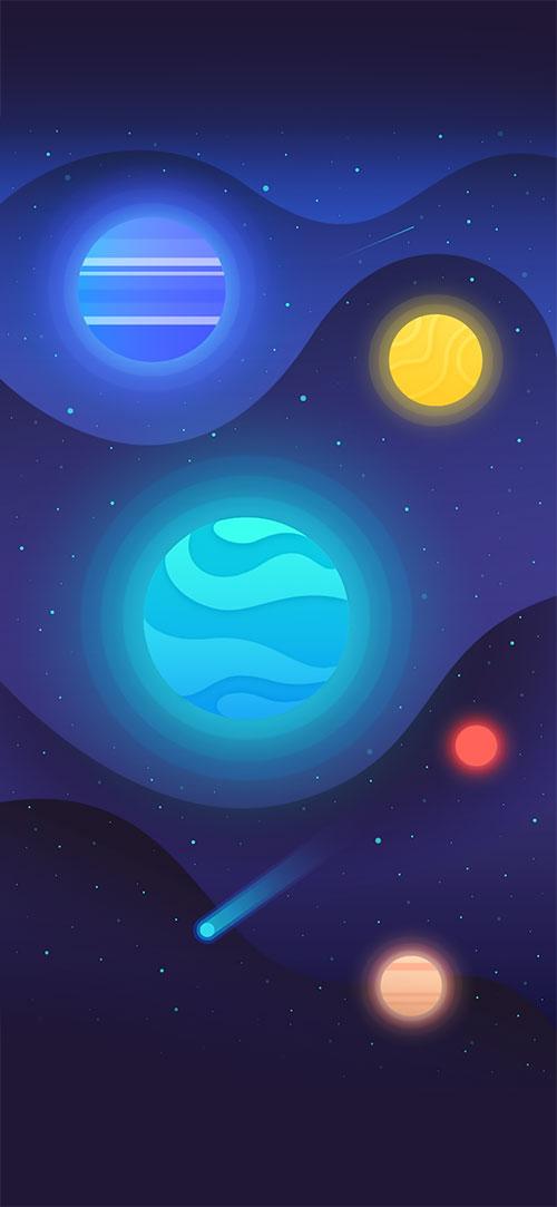 Cartoonish-Apple-iPhone-X-Wallpaper