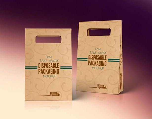 Free-Kraft-Paper-Disposable-Food-Bag-Packaging-Mockup-PSD