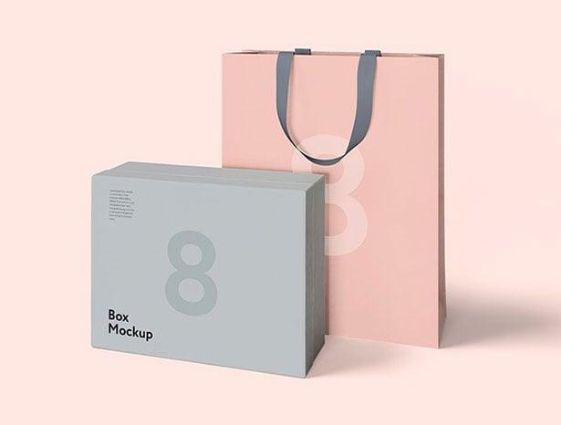 Free-Luxury-Packaging-Box-&-Bag-PSD-Mockups