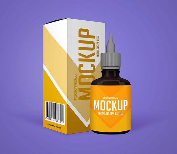 Free-Nasal-Drops-Bottle-&-Packaging-Mockup-PSD